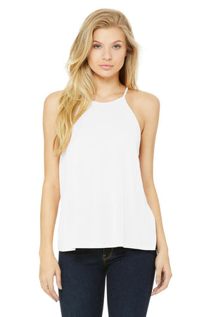 Flamingo Jungle Greek Tank - Bella Flowy High Neck, Ladies, Sunny and Southern, - Sunny and Southern,
