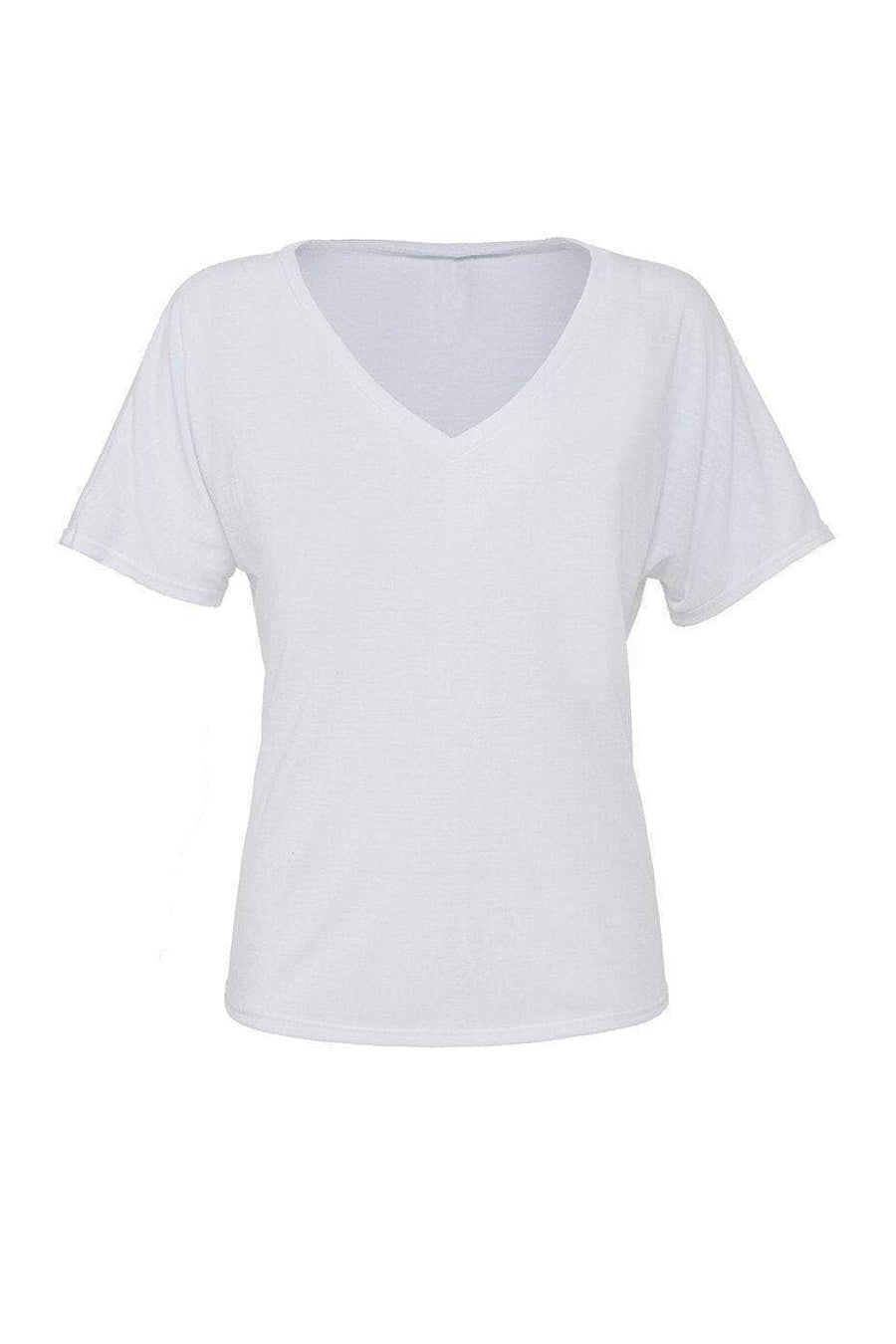 Greek Heart Est. Date Shirt - Bella Slouchy V-Neck Short Sleeve