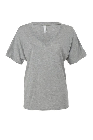 Bella Canvas Ladies Slouchy VNeck Tee B8815, Material, Blank, - Sunny and Southern,