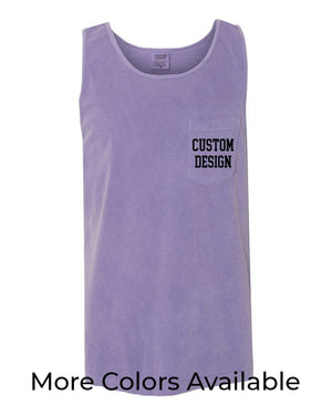 Custom Designed Shirt Comfort Colors Tank Top with Pocket