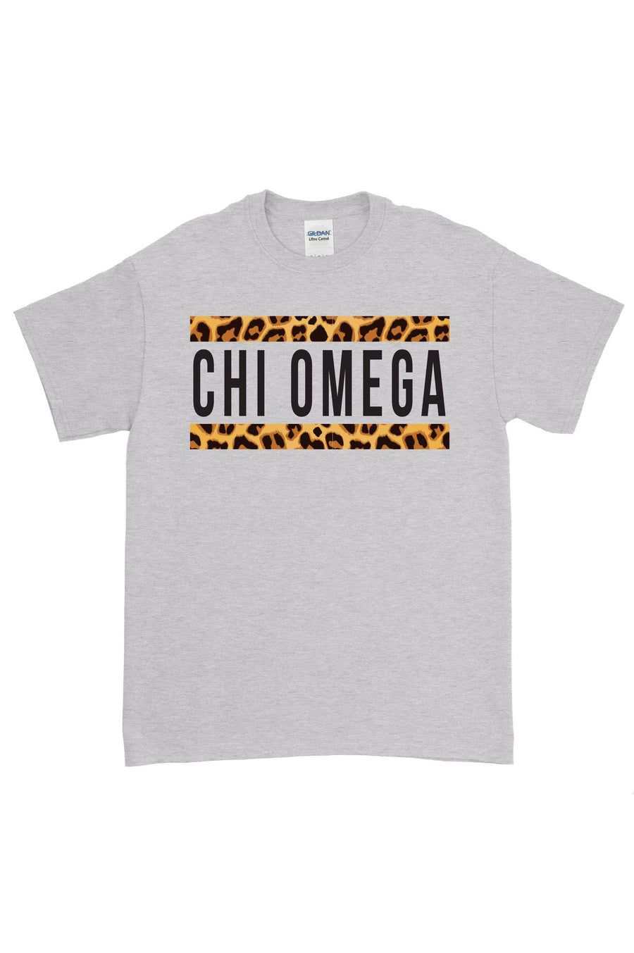 Bold Cheetah Line Greek Organization Gildan Short Sleeve Tee