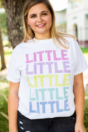 Disco Rainbow Big Little Gildan Short Sleeve Tee