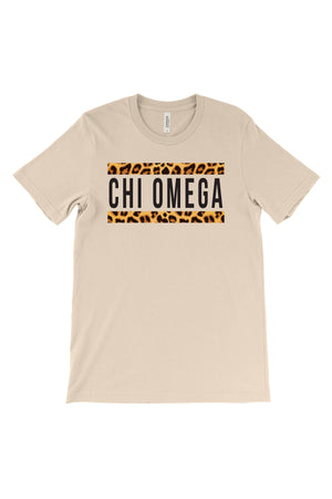 Bold Cheetah Line Greek Organization Bella Canvas Short Sleeve Unisex Tee