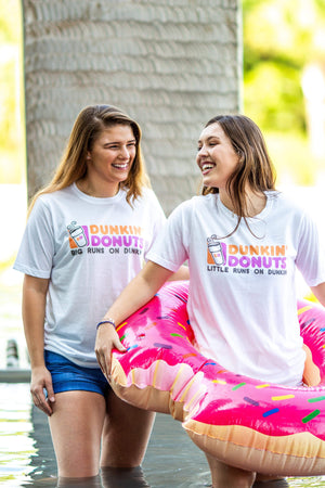 Big Little Runs on Dunkin Shirt - Next Level Unisex Short Sleeve, Ladies, Sunny and Southern, - Sunny and Southern,