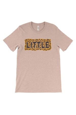 Big Little Cheetah Sisters Big Little Bella Canvas Short Sleeve Unisex Tee
