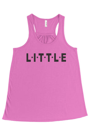 Big Little Star Font Bella Canvas Flowy Racerback Tank, Ladies, Sunny and Southern, - Sunny and Southern,