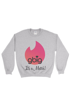 Big Little Tinder - It's a Match Gildan Crew Neck Sweatshirt