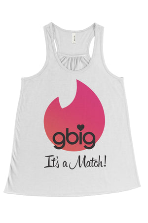 Big Little Tinder - It's a Match Bella Canvas Flowy Racerback Tank