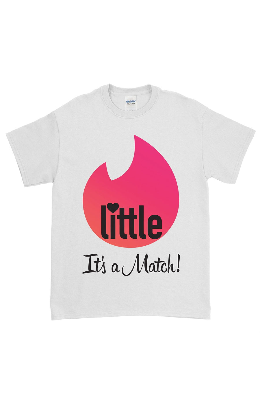 Big Little Tinder - It's a Match White Gildan Short Sleeve