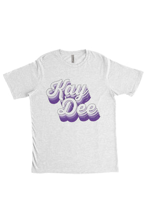 Purple Retro Design Next Level Unisex Poly/Cotton Crew