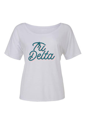 Retro Air Stream Shirt - Bella Slouchy Scoop Short Sleeve