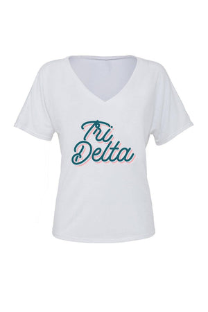 Retro Air Stream Shirt - Bella Slouchy V-Neck Short Sleeve