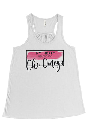 My Heart Belongs to Tank- Bella Flowy Racerback