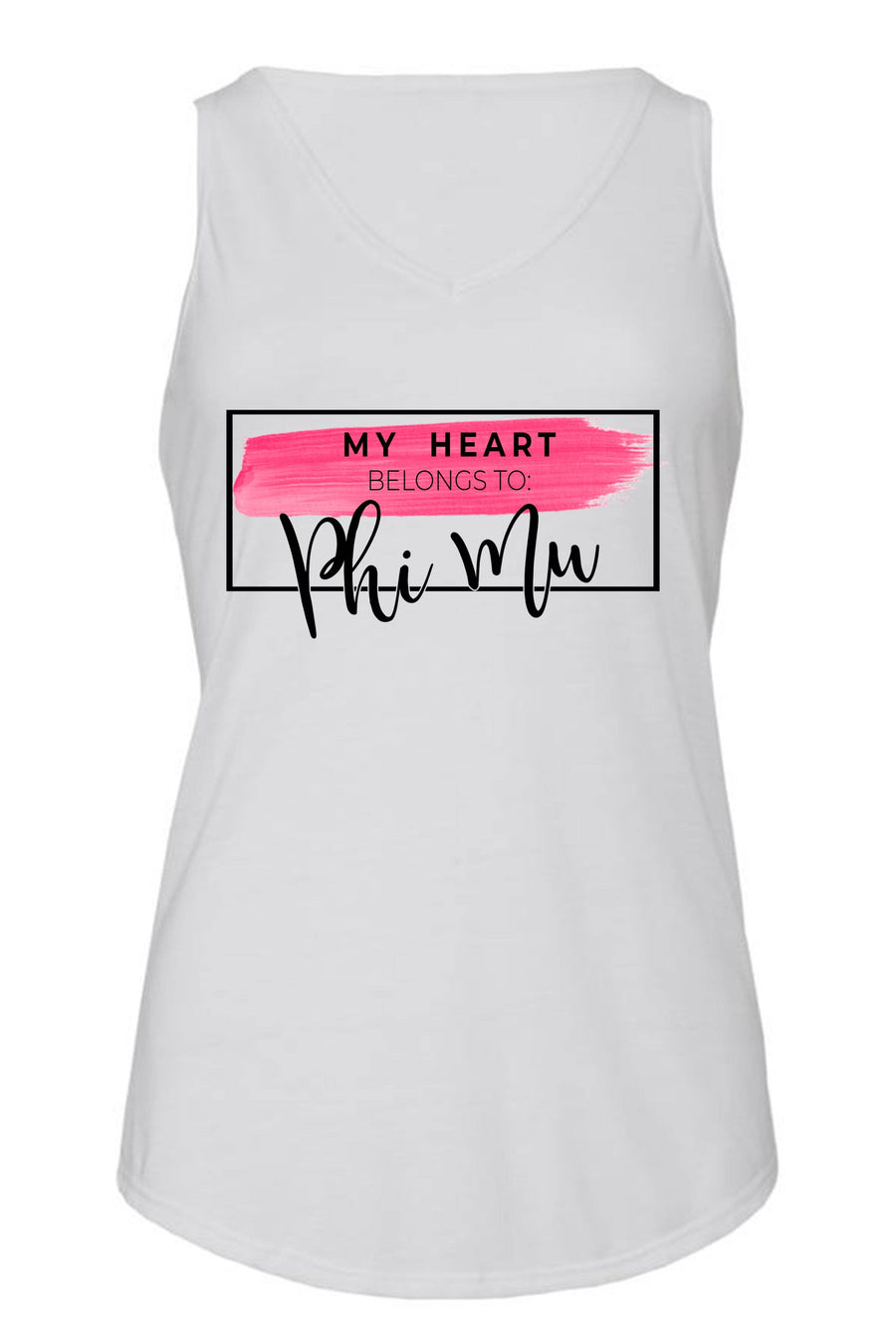 My Heart Belongs to Tank- Bella Flowy V-Neck