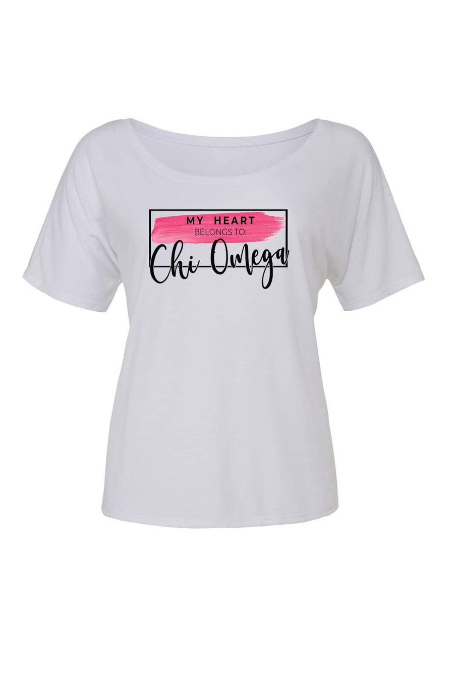 My Heart Belongs to Shirt - Bella Slouchy Scoop Short Sleeve