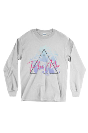 Retro Palm Trees Shirt - Gildan Long Sleeve