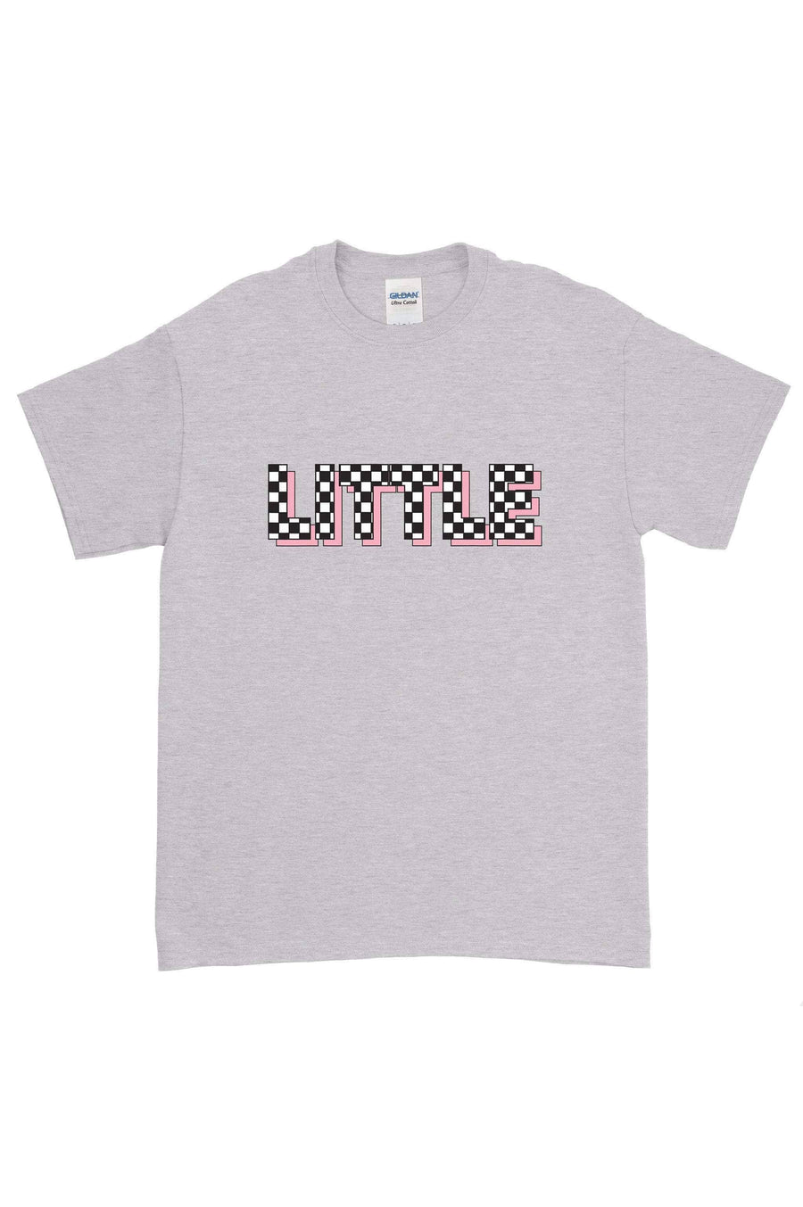 Pink Checkered Big Little Gildan Short Sleeve Tee