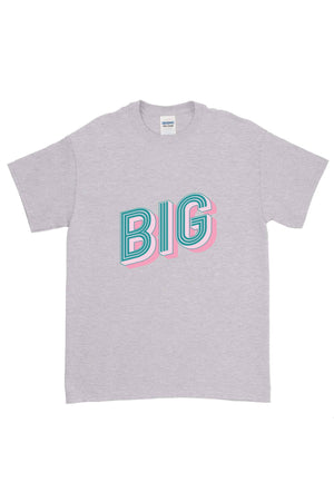 Pink and Blue Neon Sign Big Little Gildan Short Sleeve Tee
