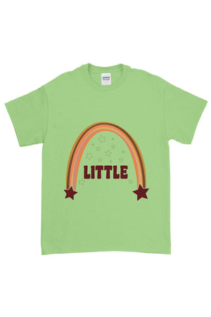 Retro Rainbow Big Little Gildan Short Sleeve