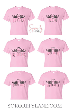 Pink Cowgirl Big Little Gildan Short Sleeve Tshirt