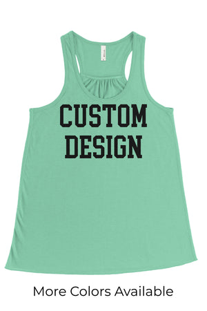 Custom Designed Shirt Bella Canvas Flowy Racerback Tank