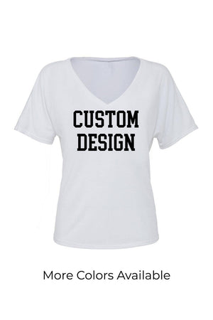 Custom Designed Shirt Bella Canvas Ladies Slouchy V-Neck Tee