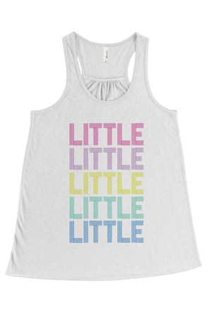 Disco Rainbow Big Little Bella Canvas Flowy Racerback Tank, Ladies, Sunny and Southern, - Sunny and Southern,