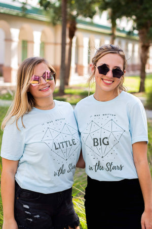 It Was Written in the Stars Big Little Bella Canvas Short Sleeve Unisex Tee, Ladies, Sunny and Southern, - Sunny and Southern,