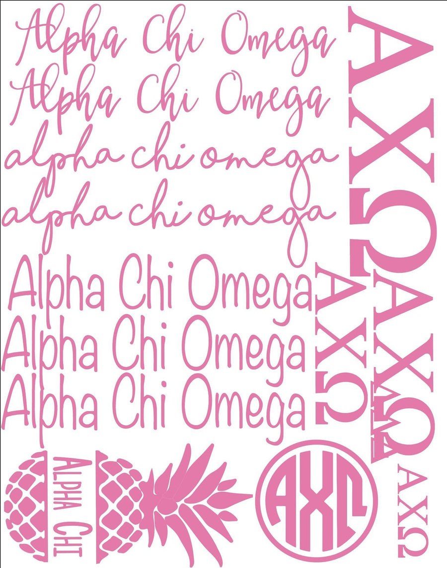 Greek Decal Sheets 11x14 Inch, Accessories, Sunny and Southern, - Sunny and Southern,