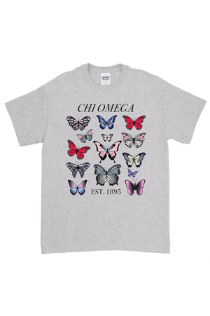 Butterflies Greek Organization and Established Date Gildan Short Sleeve Tee