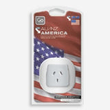 GO Travel single socket earthed adaptor - converts plugs for NZ & Australian appliances for use in North America including Canada