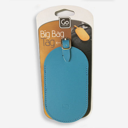 GO Travel Big Bag Tag – easily identify your luggage with this bright blue tag. Attaches to your bag with a buckle strap and includes a card insert to keep your contact details with the bag but hidden from view.