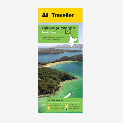 Cape Reinga-Whangarei Touring Map