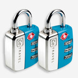 Twin Travel Sentry Lock - Turquoise Green