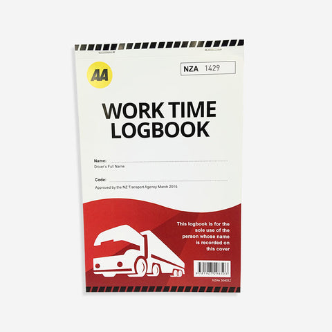 AA Work Time Log Book