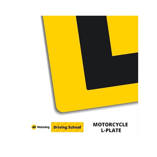 AA Motorcycle L Plate