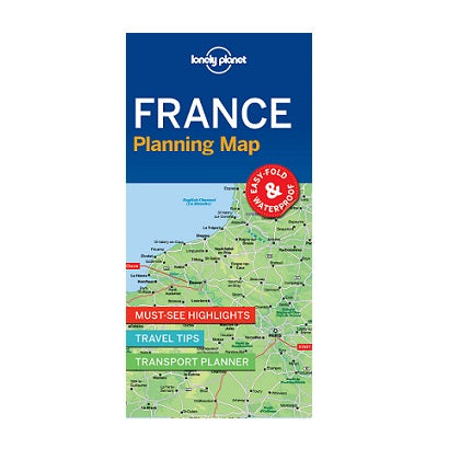 Lonely Planet France Planning Map is a compact, easy-fold map with a handy slip case. Includes must-see highlights, travel tips and transport planner for your journey across France.