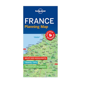 France Lonely Planet map