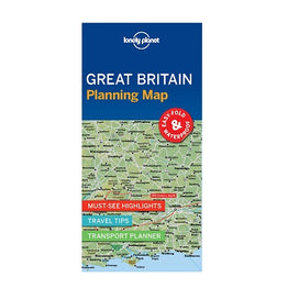 Lonely Planet Great Britain Planning Map is a compact, easy-fold map with a handy slip case. Includes must-see highlights, travel tips and transport planner for England, Scotland & Wales.