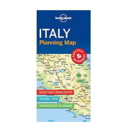 Lonely Planet Italy Planning Map is a compact, easy-fold map with a handy slip case. Includes must-see highlights, travel tips and transport planner for your journey across Italy.