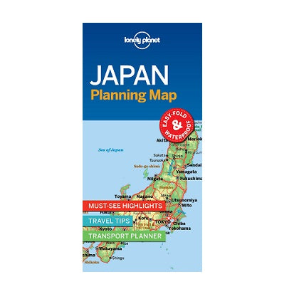 Japan Lonely Planet map