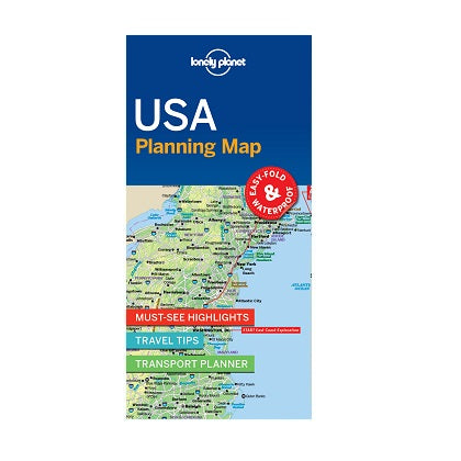 Lonely Planet USA Planning Map is a compact, easy-fold map with a handy slip case. Includes must-see highlights, travel tips, a detailed road map and transport planner for your journey across the United States of America.