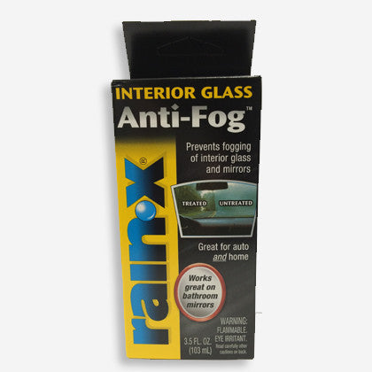 Rain-X Anti-Fog keeps interior glass and bathroom mirrors from fogging up