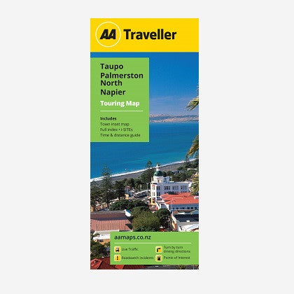 Taupo-Palmerston North-Napier Touring Map