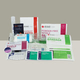 AA Travel First Aid Kit contents include bandages, dressings, plasters, wipes, gloves, eye wash and more.
