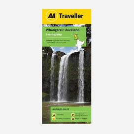 AA Traveller Whangarei-Auckland Touring Map includes Auckland CBD Map, Place names & road names, i-SITEs, Must-Do's & Tourist features and Time & Distance Guide.