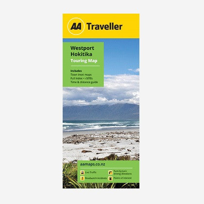 Westport-Hokitika Touring Map