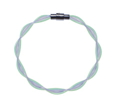 Mint & White Twist Stringlet NEW!