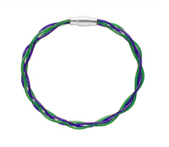 Purple & Green Twist Stringlet