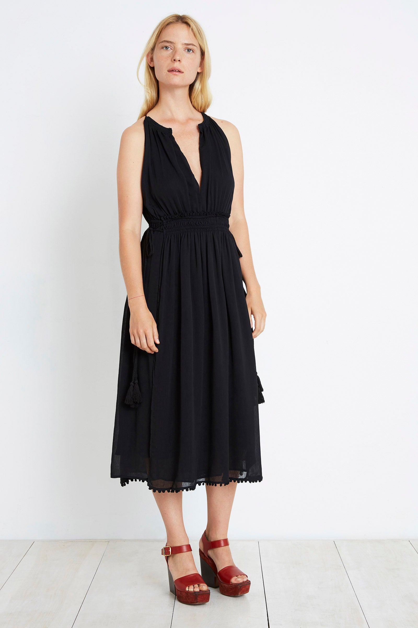Apiece Apart FW16 Lippard Dress Black